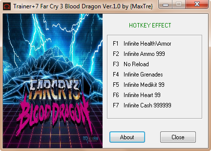 Far Cry 3: Blood Dragon трейнер +7 (чит)